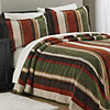 Uptown Stripe Chenille Bedspread Set
