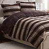 McLeland Design Printed Faux Fur Comforter Set