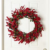 "McLeland Design 30"" Red Berry Wreath"