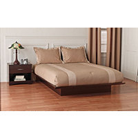 South Shore Platform Full Bed - Dark Chocolate