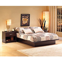 South Shore Platform Queen Bed - Dark Chocolate