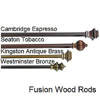 "Westminster Bronze 90"" x 130"" Rod"