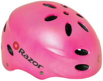 Razor V17 Matte Pink Girls' Youth Helmet