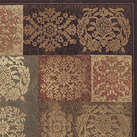Dalyn Rug Capri Floral Panels 3x5 Area Rug - Sable