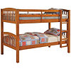 Mission Twin Bunk Bed Oak