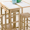 Stowaway Table+Stools Nat/White