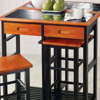 Stowaway TableStoolsBlk/Ch TT $ 149.99