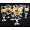 Royal Monogrammed Pilsner Glasses/Set of 8