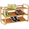 Honey Can Do 3 Tier Deluxe Bamboo Shoe Shelf