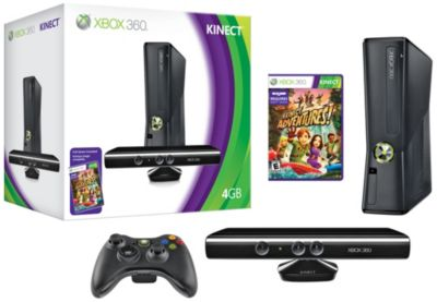 Microsoft XBOX 360 4GB Console with Kinect Bundle