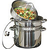 8qt Stainless Steel Stock Pot with Glass Lid