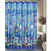 Bright Fish Shower Curtain and Hooks