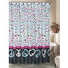 Peace Shower Curtain with Hooks