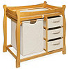 Badger Bakset Sleigh Changing Table w/Bskt-Honey