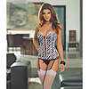 Zebralicious Reversible Corset-Women's Sizes Avail
