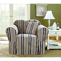 Indigo Stripe Chair Cover