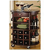 Cappuccino Round Bar Cart with Wine Storage