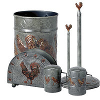 Country Rooster Kitchen Accessory Set