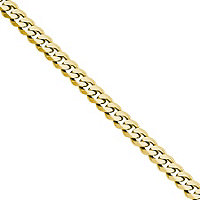 14K Gold Curb Link Chain 22""