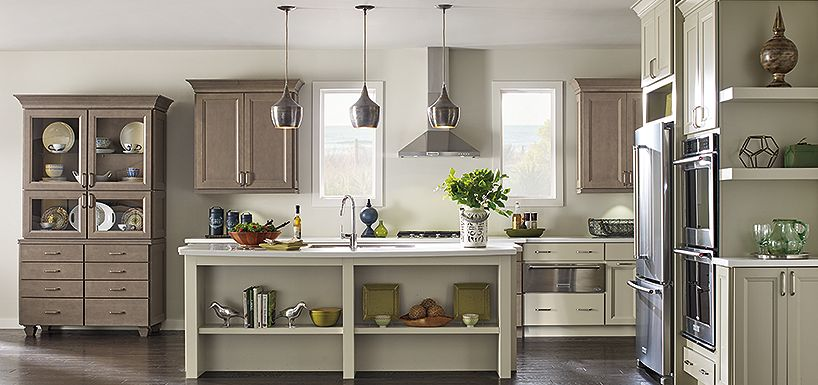 Drennan Maple Khaki And Heather Grey By Thomasville Cabinetry