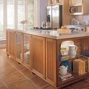 Ashton Maple Natural and Coffee Glaze Kitchen Cabinets