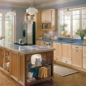 Ashton Maple Natural & Coffee Glaze Kitchen Cabinets