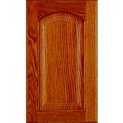 Oak Raised Panel Arch Cabinet Door