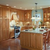 Bellingham Oak Peanut Brittle Kitchen Cabinets