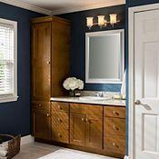 Berkham Oak Brandy Bathroom Cabinets