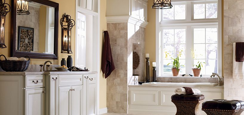 Blakely maple pearl paint by thomasville cabinetry - Type of paint for bathroom cabinets ...
