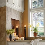 Blakely Maple Pearl Paint Bathroom Cabinets