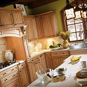 Blakely Maple Palomino Glaze Kitchen Cabinets