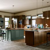 Blythe Maple Clove with Saxony Maple Marine Kitchen Cabinets