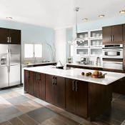 Blythe Cherry Chocolate Kitchen Cabinets
