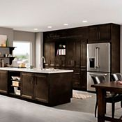 Bowen Maple Sparrow Kitchen Cabinets