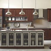 Buxton Cherry Brulee Kitchen Cabinets