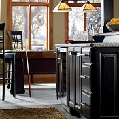Cabbot Maple Whiskey Black Glaze and Plaza Maple Heirloom Black Paint Other Cabinets