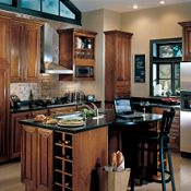 Camden Cherry Coffee Glaze Kitchen Cabinets