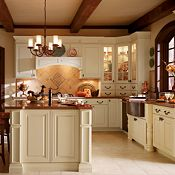 Camden Maple Corn Silk Kitchen Cabinets