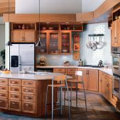 Cottage Cherry Light Kitchen Cabinets