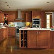 Crofton Maple Gingerbread Kitchen Cabinets