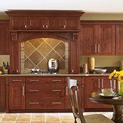 Eden Rustic Alder Sangria Kitchen Cabinets