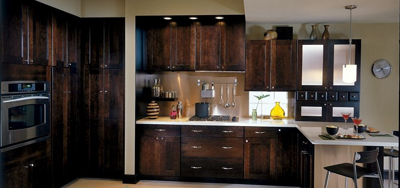 eden cherry chocolate by thomasville cabinetry
