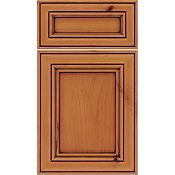 Rustic Alder Recessed Panel Square with 5-Piece Drawer Front