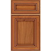 Cherry Recessed Panel Square with 5-Piece Drawer Front