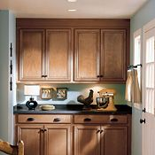 Genesa Maple Camel Carob Kitchen Cabinets