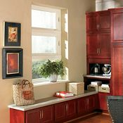 Gibson Cherry Cranberry Kitchen Cabinets