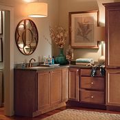 Gibson Maple Macaroon Bathroom Cabinets