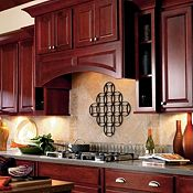 Langston Maple Cranberry Kitchen Cabinets