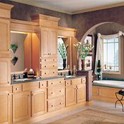 Langston Maple Wheat Bathroom Cabinets